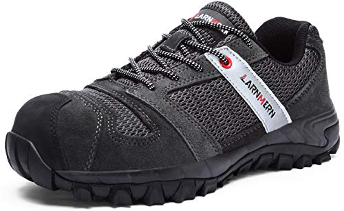 LARNMERN Workshift Shoes for Men,Breathable Steel Toe...