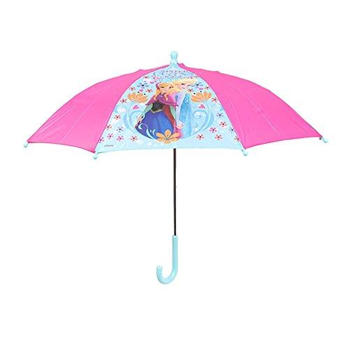 Chanos Chanos Frozen Safety Runner Polyester Taslon Folding Umbrella, 37 cm, Pink...