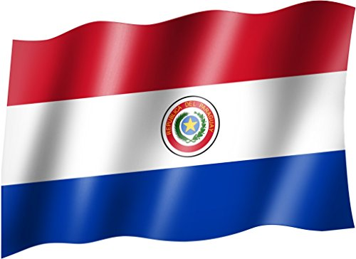 Flagge/Fahne PARAGUAY Staatsflagge/Landesflagge/Hissflagge mit Ösen 150x90 cm, sehr gute Qualität