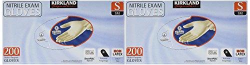 Kirkland Signature Latex-Free Nitrile Exam Multi-Purpose Gloves, Small,200 Count (Pack of 2)