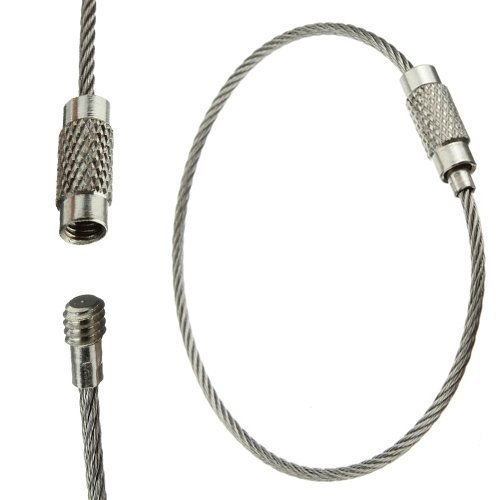 Agua y madera Cable llavero cadena de alambre de acero inoxidable para...