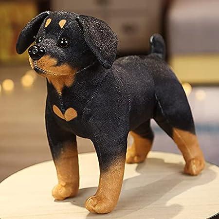 Simulación Lindo Perro Juguetes de Peluche Encantador Husky Akita Rottweiler muñecos de Animales Peluches de Peluche para niños 24cm-3