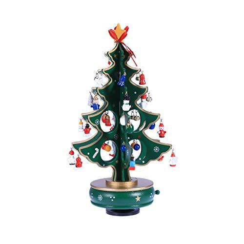 オルゴール 古典的なオルゴールの木製の時計仕掛けのデザインのクリスマスツリーのペンダントのミニチュアの手作りの音楽ボックスのための誕生日プレゼント 贈り物 (Color : 300ml+500ml+900ml)