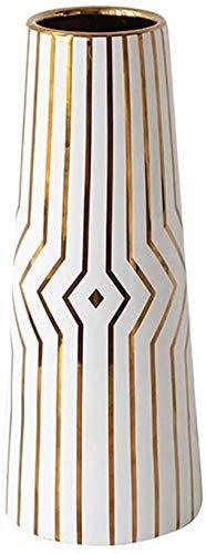 LLXbtd Jarrón de cerámica cónica para flores con tallo largo, ideal para decoración de casa, boda, oficina y fiesta, jarrones de diseño Phnom Penh