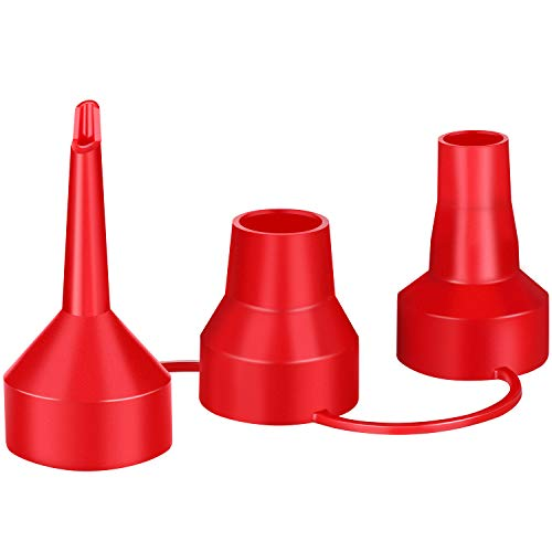 Replacement Nozzles Pump Set 3 Sizes Plastic Nozzle Air Pump Accessory for Partial Air Bed, Partial Air Pump Accessory (1, Red)