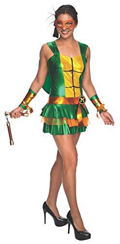 Secret Wishes Women's Teenage Mutant Ninja Turtles Michelangelo Costume Dress, S, M, L