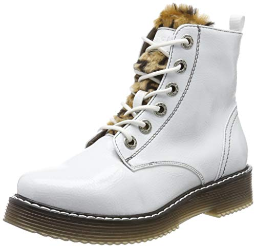 bugatti Damen 432549325969 Stiefeletten, Weiß (White/Brown 2060), 37 EU