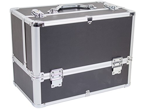 Beauty Koffer Bellezza Aluminium Schwarz - Beauty Schmink Case
