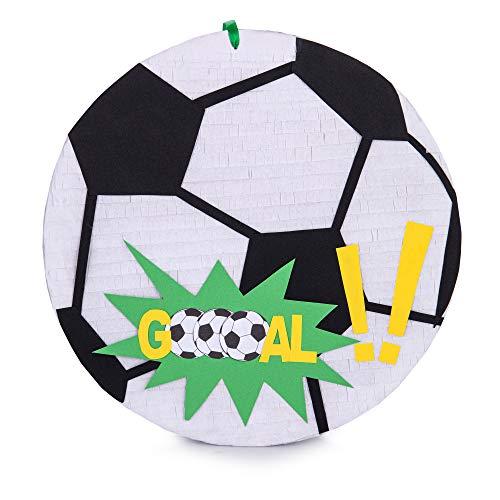MagicPinatas Fussball Pinata zum Befüllen, Pinjata für Kinder, Multicoloured 28x28x5.5cm