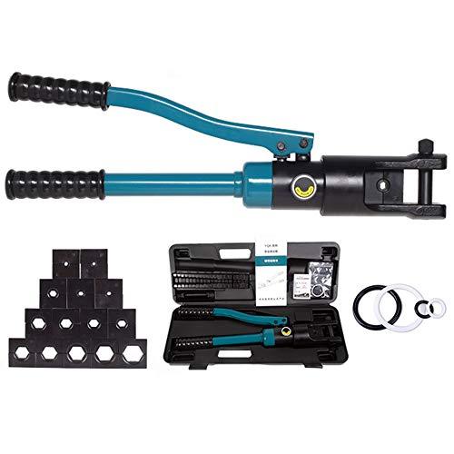 BAODANF Tenazas de prensado hidráulicas (4-300 mm², alicates de Prensa, alicates para terminales de Cable, alicates, Cabezal de Rebordeado, presión máxima de Funcionamiento 18T),YQK120