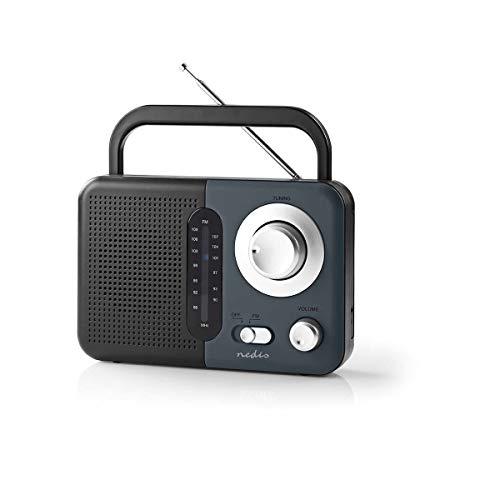 TronicXL Tragbares UKW FM AM Radio 2,4 W Trage Griff schwarz grau