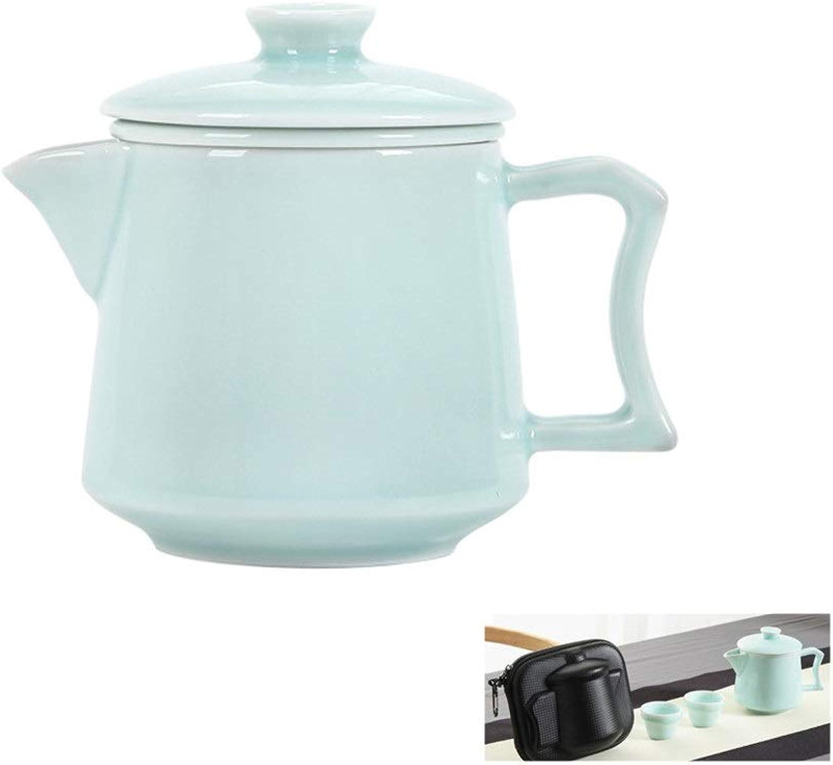 Service à Thé portable, Un Pot Deux Tasses De Service à Thé De Voyage, Service à Thé En Céramique (Couleur   A)