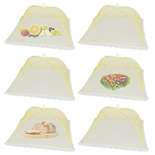 17x17inch Large and Tall Yellow Pop-Up Mesh Food Tent...