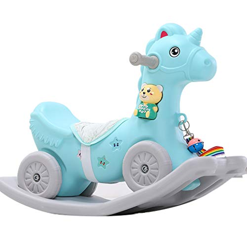 Why Choose FJH Rocking Horse Wooden Children's Plastic Car Environmental Protection with Music and H...