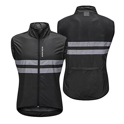 Benkeg Gilet da Ciclismo, Maglia da Ciclismo Senza Maniche Maglia da Ciclismo Antivento Traspirante da MTB per Uomini E Donne