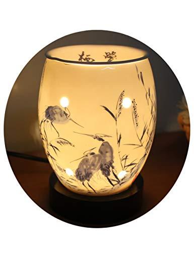 Lámpara De Cerámica Enchufable Para Electricidad Lámpara De Aceites Esenciales Adecuada -...