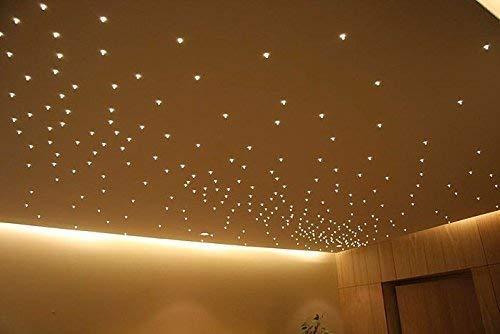 KIT cielo stellato luce calda 20 LED trasparenti da incasso 3000K + alimentatore ultra slim