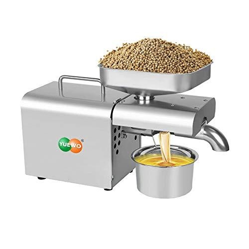 YUEWO Máquina de prensado de Aceite para el hogar,Automática Extractor de Aceite 700W para Semilla de cáñamo Sésamo Cacahuete Girasol Aceite de Nogal de Colza (Classic Machine)