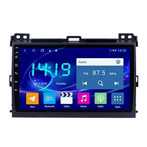 Dscam Car Stereo Android 9.1 Car Radio De Navegación GPS para Toyota Prado 2004-2009 9 Pulgada Pantalla LCD Táctil USB WLAN 4.0 Bluetooth Llamadas Manos Libres
