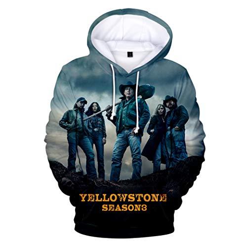 Greatbe Yellowstone Season3 Felpa con cappuccio per uomo/donna/gioventù Cl01 M