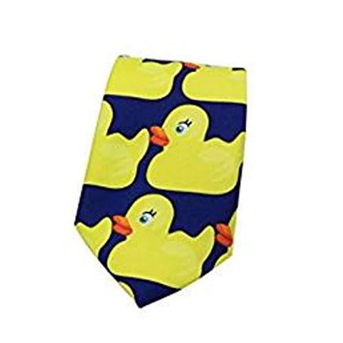 Gespout 1 Artículo Corbatito de Pato Amarillo Corbata de Traje de Fiesta de Jacquard Corbata de Lazo Traje de Negocios Corbata