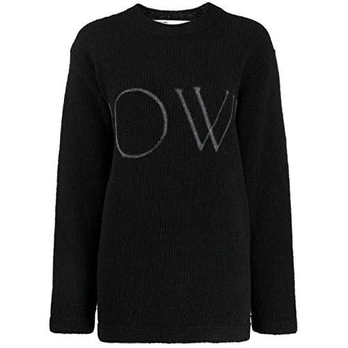 OFF-WHITE Luxury Fashion Donna OWHE020F19F980911001 Nero Acrilico Maglione | Autunno-Inverno 19