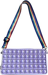 Pop It Dames Diagonale Tas, Push Bubble Handtas, Fidget Speelgoed Schoudertas, Modieuze En Gepersonaliseerde Opslag Portem...