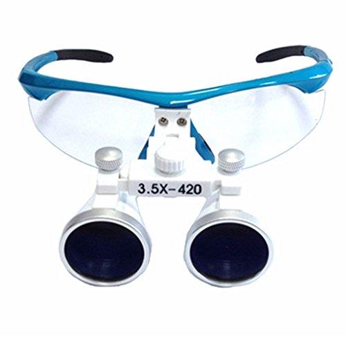 Zgood 3.5X 420mm Dental Surgical Medical Binocular Magnifier Loupes Optical Glasses (Blue)