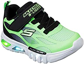 Skechers Kids Boys' Flex-Glow-Dezlo Sneaker, Lime/Black, 10 Medium US Toddler