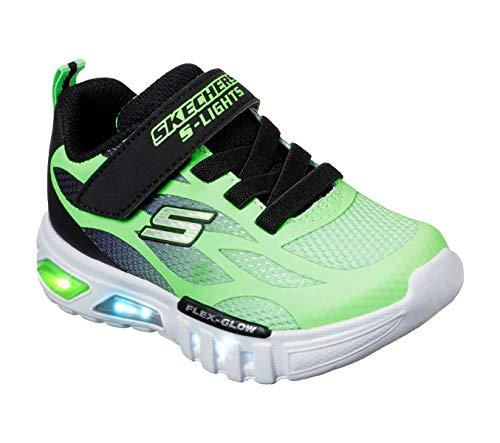 Skechers Kids Boys' Flex-Glow-Dezlo Sneaker, Lime/Black, 10 Medium US Toddler