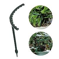 園芸用品支柱 DIY植物サポートフレーム人工ミニクライミングトレリスフラワースタンドガーデンツールプラスチックU字形植物フラワーサポート 植木鉢サポート