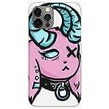 Hengyaai Funda de TPU Pure Clear Phone Cases para Pastel Goat V 3 Caja del teléfono paraiPhone 12/12 Pro MAX 12 Mini 11 Pro MAX SE X XS MAX XR 8 7 6 6s Plus
