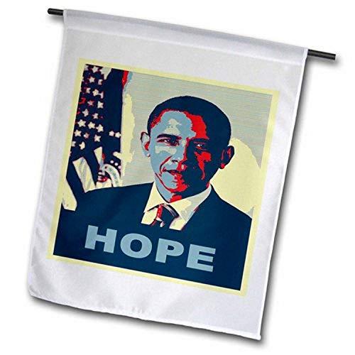 3dRose fl_130694_2'President Barack Obama in Hope Pop Art Garden Flag, 18 x 27