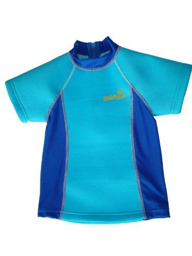 Babysun Linge de Toilette T Shirt Anti UV Bleu
