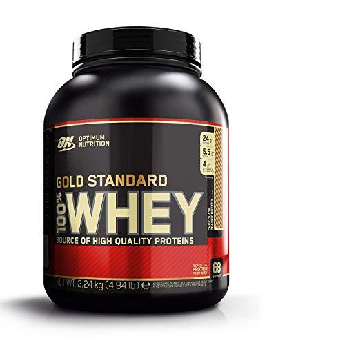 Optimum Nutrition ON Gold Standard 100% Whey Proteína en Polvo Suplementos Deportivos con Glutamina y Aminoacidos Micronizados Incluyendo BCAA, Chocolate Mantequilla de Cacahuete, 68 Porciones, 2.24kg