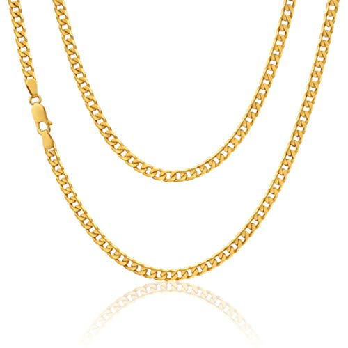 9ct yellow Gold Curb Chain necklace - 3.9g - 20' (50cm) - Suitable for a man or woman - Comes in a Jewellery presentation gift box