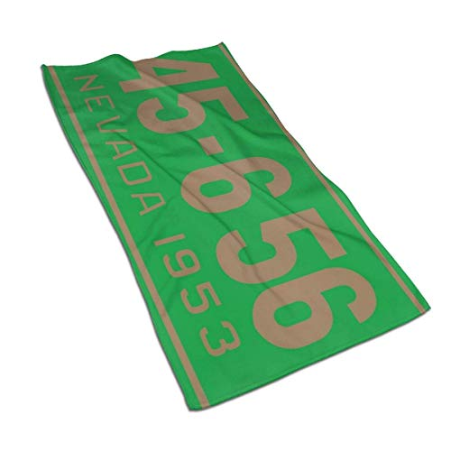 Nevada 1953 License Plate Microfiber Towels 27.5' X 17.5' Polyester Personality Funny Pattern Super Absorbent for Bathroom,Kitchen,Wash Car,Cleaning Towel