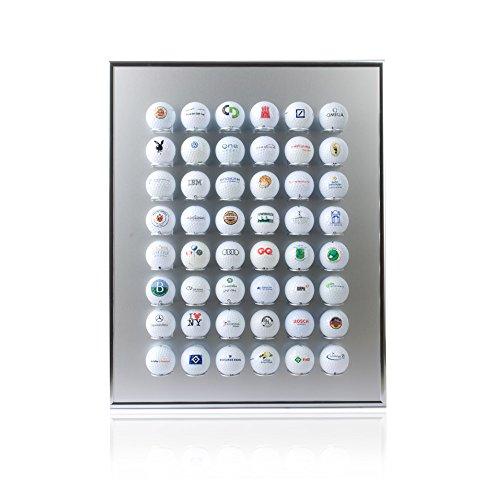 Knix Premium Golfball Setzkasten aus Aluminium für 48 Golfbälle - Schaukasten, Golf-Regal Vitrine Display passionierte Golfer