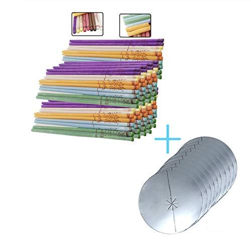 20-50- 100 Stück Aromatherapie-Ohrkerze leises Bergamottenhorn mit Steckerohrpflege Passende Schale C100pcsStraight