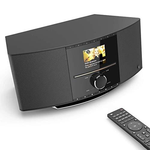 Hama Internetradio mit CD-Player & DAB+ (WLAN/Digitalradio/UKW/CD/Bluetooth/USB/AUX, Spotify/Amazon Music, Multiroom, 40W, Farbdisplay, Steuerung per