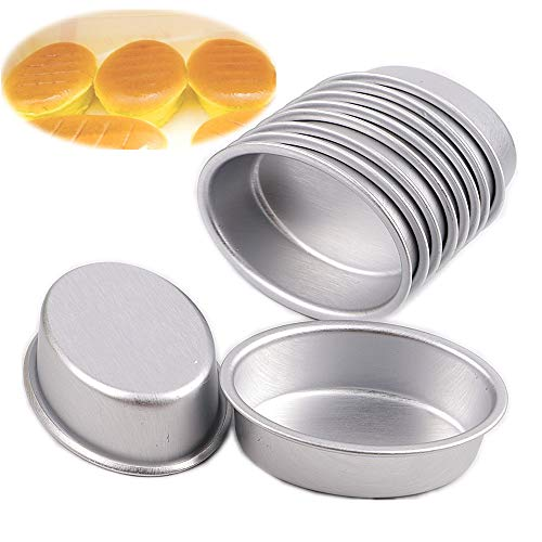 10pcs mini size oval egg shape aluminium alloy metal cheese pan cake mold bread mould tart holder pudding jelly tin DIY bakery D00