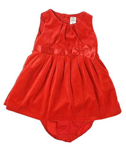Carter's Baby Girls' Velour Jurk W/Luierhoes