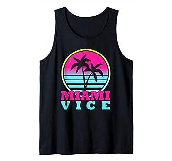 Miami Beach Florida Retro Gift Vintage Design Palm Love Vice Tank Top