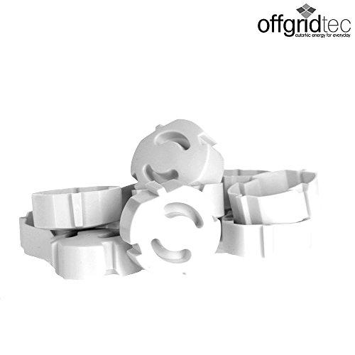 Offgridtec 007310 Kindersicherung für Steckdose, steckbar Steckdosensicherung, 12 Stück, weiß