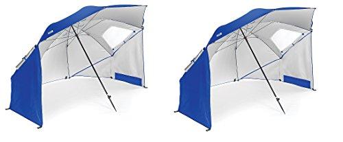 Sport Brella Regenschirm, tragbar, für alle Wetter- und Sonnenschutz, 2 m, NlCwYK, Blau, 2 Stück