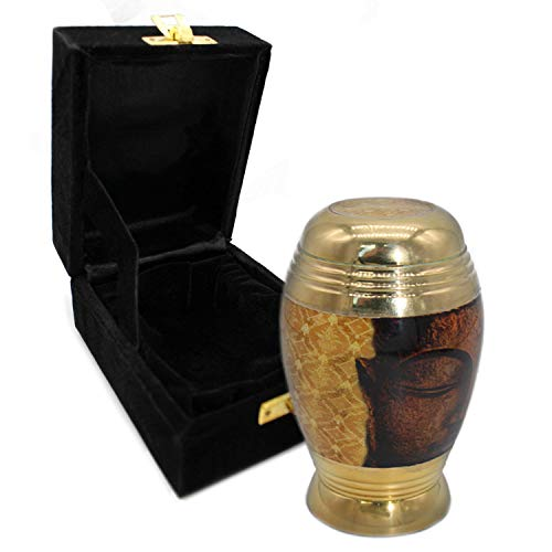 Golden Buddha Cremation Urns for Human Ashes Adult for Funeral, Burial, Columbarium or Home, Cremation Urns for Human Ashes Adult 200 Cubic Inches, Urns for Ashes (Golden Buddha, Small / Keepsake)