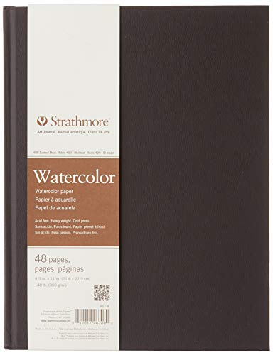 Strathmore (467-8 STR-467-8 48 Sheet No 140 Watercolor Art Journal, 8.5 by 11', 8.5'x11', White, 24