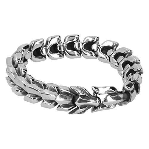 Pulsera de eslabones de cadena de quilla, pulsera de accesorios de hombre, pulsera de hombre, joyería masculina, regalo para hombre, con pulsera de estilo punk, material de acero de titanio retro, par