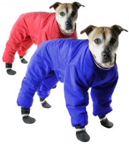 Muttluks Four Legged Omaha Mall Nylon Reversible Snowsuit Boston Mall - S and Red Blue