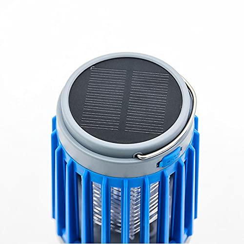 FANGYUN Asesino de mosquitos con luz LED solar, resistente al agua, recargable por USB, para el hogar, para uso en interiores y exteriores